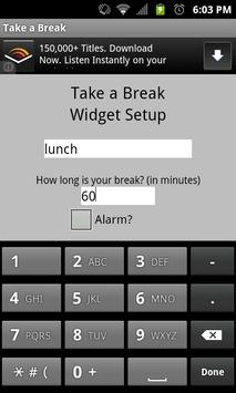 Take A Break Widget screenshot 1