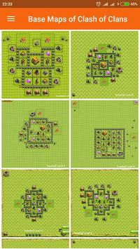 Base Maps of Clash of Clans poster