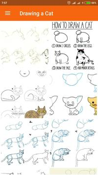 Drawing a Cat poster