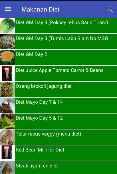 Resep Makanan Diet For Android Apk Download