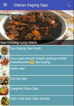 Olahan Daging Sapi poster