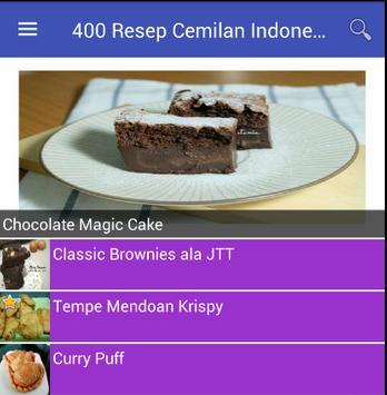 400 Resep Cemilan Indonesia screenshot 1