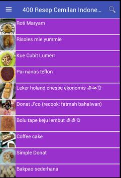 400 Resep Cemilan Indonesia screenshot 2