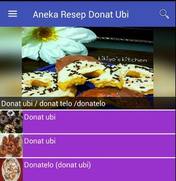 Aneka Resep Donat Ubi screenshot 2