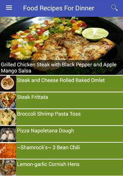 Food Recipes For Dinner poster