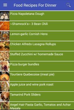 Food Recipes For Dinner apk screenshot