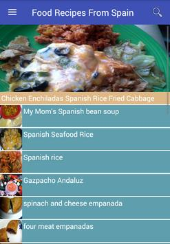 Food Recipes From Spain poster