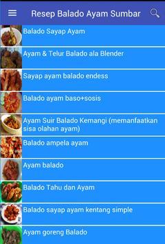 Resep Balado Ayam Sumbar poster