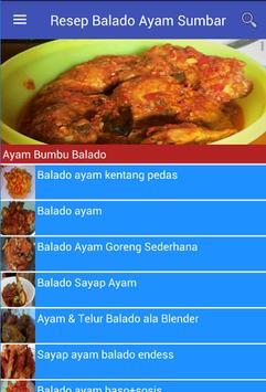 Resep Balado Ayam Sumbar apk screenshot