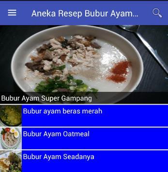 Aneka Resep Bubur Ayam Spesial poster
