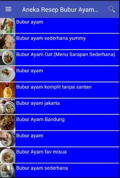 Aneka Resep Bubur Ayam Spesial screenshot 1