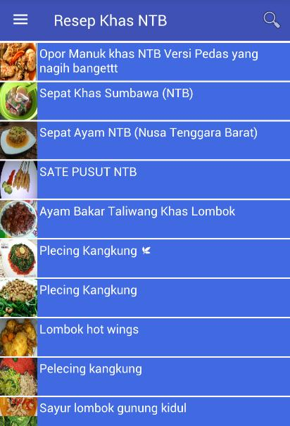 Resep Masakan Khas Ntb Para Android Apk Baixar