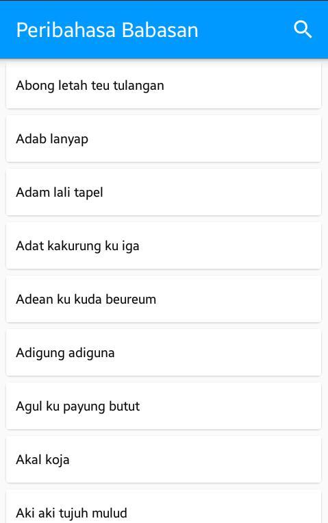 Peribahasa Dan Babasan Sunda For Android Apk Download
