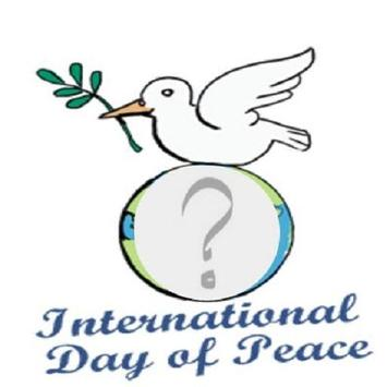 Peace day photo frames poster