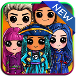 How to draw Disney Descendants APK