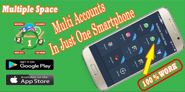 Multiple Account : Multi space - Parallel app poster