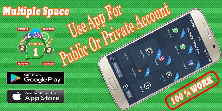 Multiple Account : Multi space - Parallel app screenshot 2