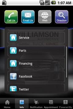 WILLIAMSON CADILLAC apk screenshot