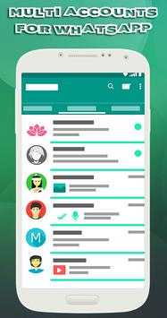 Multi accounts for whatsapp poster