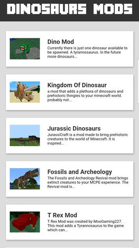 Jurasic Mod for MCPE for Android - APK Download