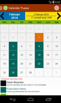 Kalender Puasa poster