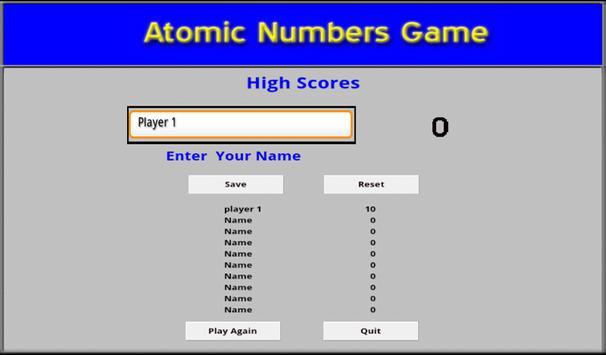 Chemistry - Atomic Number Game screenshot 3