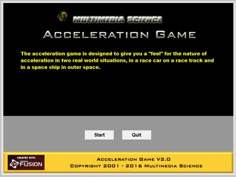 Physics - Acceleration Game poster