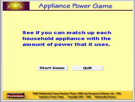 Physics - Appliance Power Game poster