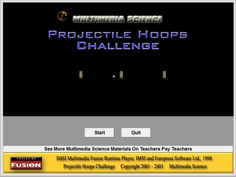 Projectile Hoops Challenge poster