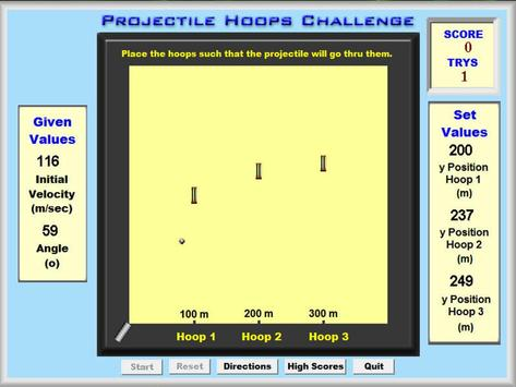 Projectile Hoops Challenge screenshot 1