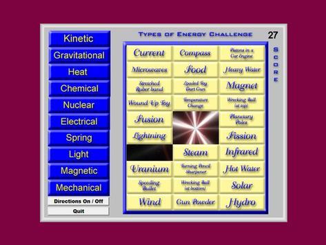 Types Of Energy Challenge screenshot 1