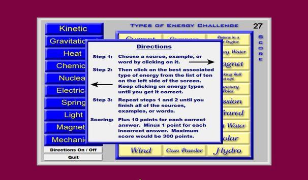 Types Of Energy Challenge screenshot 2