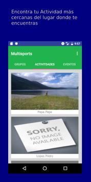 Multisports screenshot 1