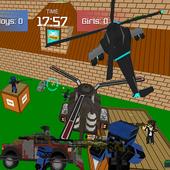 Pixel military vehicle battle icon