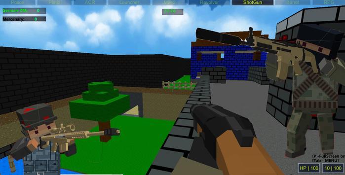 Pixel Military VS Zombies apk screenshot