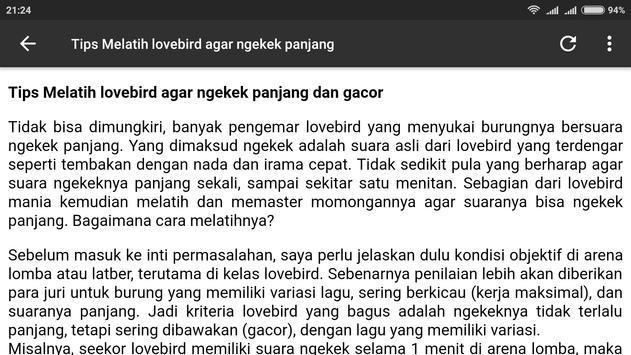 Lovebird Ngekek Panjang screenshot 8
