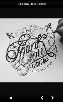 Easy Hand Lettering Designs Apk Screenshot