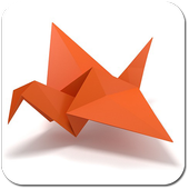 Origami step by step icon
