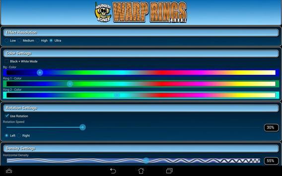 Warp Rings LITE Live Wallpaper screenshot 14