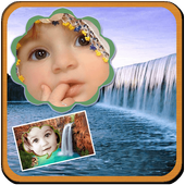 Waterfall Pic Frames New icon