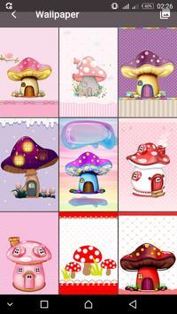 Cute Mushroom  password LOCK SCREEN poster