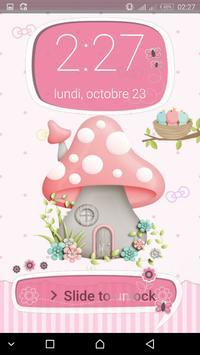 Cute Mushroom  password LOCK SCREEN apk screenshot