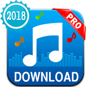 Free mp3 music download player pro icon