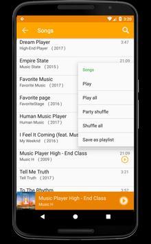 Android Mp3 Music Player Free Oreo screenshot 3