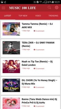 MUSIC 100 LIFE - BOLLYWOOD SONGS AND EDM SONGS APP poster