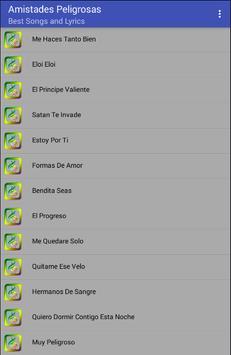 Amistades Peligrosas Musica Letras apk screenshot