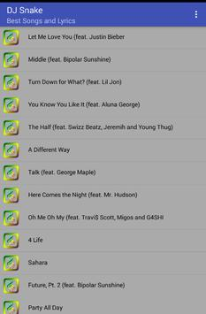 Dj Snake Musica Letras screenshot 1