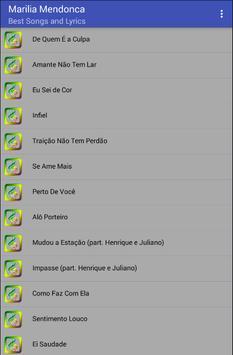 Marilia Mendonca Musica Letras screenshot 1