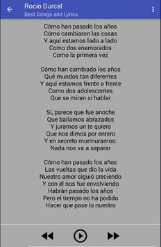 Rocío Durcal Musica Letras apk screenshot