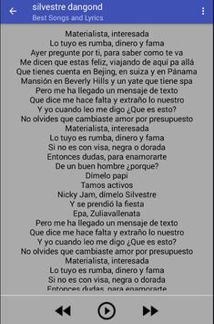 Silvestre Dangond Song & lyrics apk screenshot